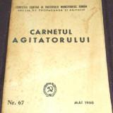 Carnetul agitatorului Nr. 67 / Mai 1950, Sectia de Propaganda si Agitatie a CC al PCR, propaganda comunista - Istorie
