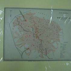 Bucuresti 1896 Planul Bucurestiului Romania harta color Plan de Bucarest