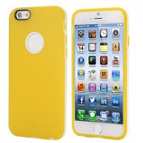 Husa iPhone 6s 6 silicon bumper galben + folie protectie display, iPhone 6/6S, Gel TPU