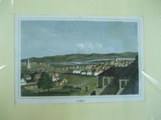 Iasi 1830 gravura color Jassy foto