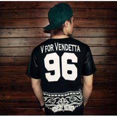 Tricou Urban Street Wear Vendetta Import USA, calitate superioara. COLECTIA NOUA, L, M, XS/S, Maneca scurta, Negru