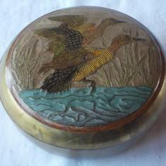 CASETA DIN ALAMA CU DECOR EMAIL - Arta din Sticla