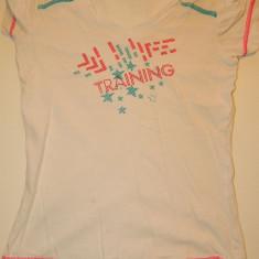 Tricou colorat si vesel pentru fete, fetite, marimea 7-9 ani, ideal de joaca, Culoare: Alb