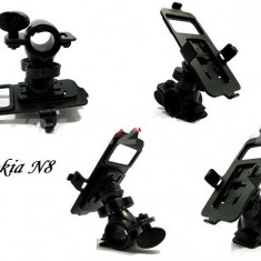 Suport bicicleta motocicleta Nokia N8 + folie protectie ecran + expediere gratuita - Suport telefon bicicleta