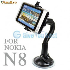 Suport auto Nokia N8 + folie protectie ecran + expediere gratuita Posta - sell by Phonica