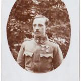 Fotografie tip carte postala apr.1915 Austria Ungaria ofiter cu decoratii WW.I. - Fotografie veche