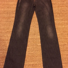 Blugi de dama Trussardi Jeans, originali - Blugi dama Trussardi, Marime: 24, Culoare: Negru, Drepti, Lungi, Normala