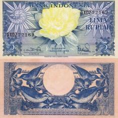 INDONEZIA 5 rupiah 1959 UNC!!! - bancnota asia