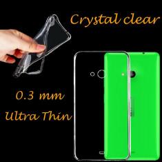 Husa Nokia Lumia 530 TPU Ultra Thin 0.3mm Transparenta Black - Husa Telefon Nokia, Gel TPU, Fara snur, Carcasa