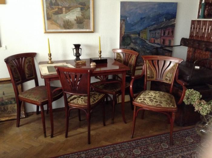 set mobilier complet art nouveau semnat fotolii scaune. Black Bedroom Furniture Sets. Home Design Ideas