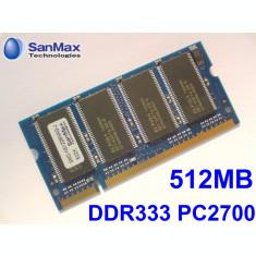 512MB PC2700 DDR333 333MHz , Memorie ram Laptop , Testata cu Memtest86+