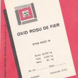 Eticheta Oxid Rosu de Fier