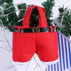 Pantalonasi Mos Craciun - decoratiune de sarbatoare - cadou inedit!