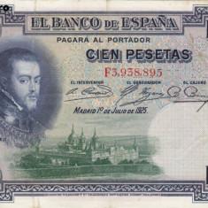 SPANIA 100 pesetas 1925 VF+!!!
