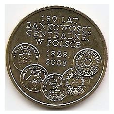 Polonia 2 Zloti 2009 (comemorativa: 180 Central Banking ) KM-675 UNC !!!, Europa