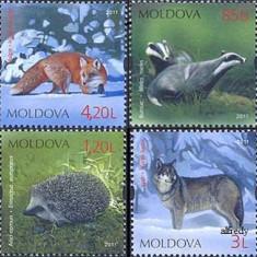 MOLDOVA 2011, Fauna, serie neuzată, MNH, Nestampilat