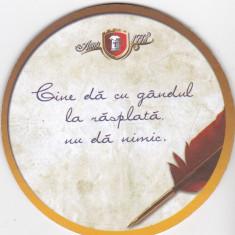 Suport de pahar / Biscuite TIMISOREANA - Cartonas de colectie