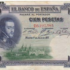 SPANIA 100 pesetas 1925 VF!!!