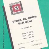 Eticheta Verde de Crom Mijlociu
