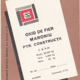 Eticheta Oxid Negru de Fier Maroniu ptr. Constructii