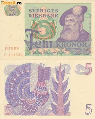 SUEDIA 5 kronor 1978 UNC!!! foto