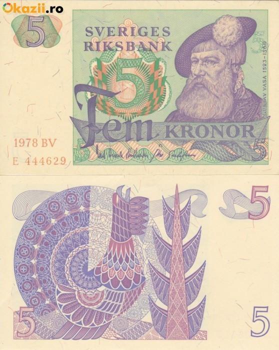 SUEDIA 5 kronor 1978 UNC!!!