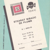 Eticheta Stearat Bibazic de Plumb