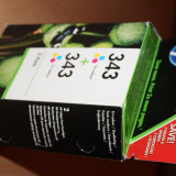 Cartus imprimanta color HP 343 (pachet de 2 cartuse)