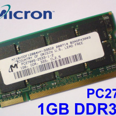 1GB PC2700 DDR333 333MHz, Memorie ram Laptop, Testata cu Memtest86+