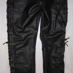 Pantaloni piele BELO, de motociclist, stare foarte buna, marimea 58 - MODEL CHOPPER!!! - Imbracaminte moto