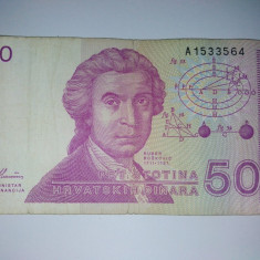 Bancnota 500 dinari Croatia - circulata
