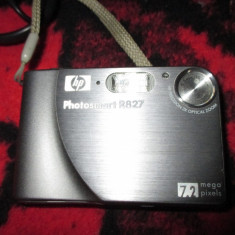 Aparat Foto 7.2 Mp HP Photosmart R827 - Aparat Foto compact HP, Compact, 8 Mpx