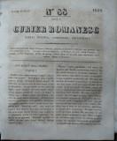 Curier romanesc , gazeta politica , comerciala si literara , nr. 88 din 1839 , prima gazeta romaneasca