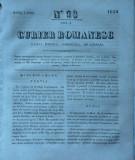 Curier romanesc , gazeta politica , comerciala si literara , nr. 93 din 1839 , prima gazeta romaneasca