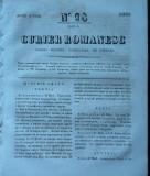 Curier romanesc , gazeta politica , comerciala si literara , nr. 98 din 1839 , prima gazeta romaneasca
