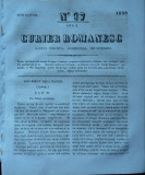 Curier romanesc , gazeta politica , comerciala si literara , nr. 97 din 1839 , prima gazeta romaneasca