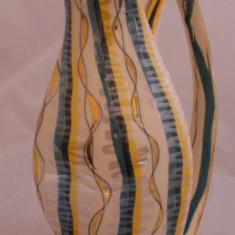 FRUMOASA VAZA PORTELAN VECHI CARAFA BELGIA 1878-1951H Bequet, Quaregnon, Vaze