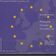 Intrarea in UE, Croatia. - Timbre straine