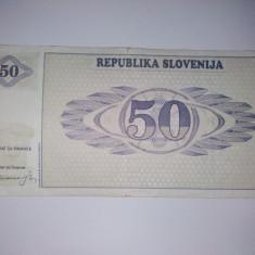 Bancnota50 tolari Slovenia - circulata