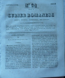 Curier romanesc , gazeta politica , comerciala si literara , nr. 91 din 1839 , prima gazeta romaneasca