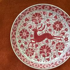 farfurie DECO - hand made, ceramica placata (suvenir RODOS)
