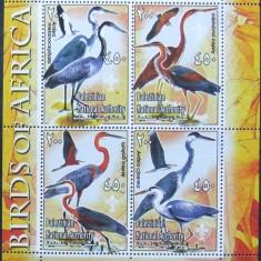 PALESTINA - PASARI DIN AFRICA, 1 M/SH NEOBLITERATA - PP 1421