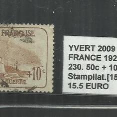FRANCE - 1923 - 26 - 230, 50C.+10C.
