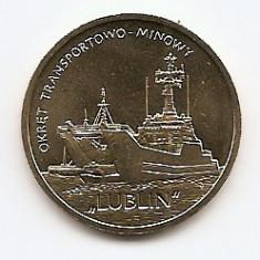 Polonia 2 Zloti 2013 (comemorativa: Ship- Lublin ) KM-862 UNC !!!, Europa