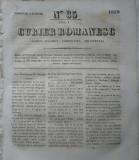 Curier romanesc , gazeta politica , comerciala si literara , nr. 35 din 1839 , prima gazeta romaneasca
