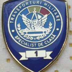 Insigna militara, specialist cls.1, transporturi militare