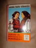 Aplicatii de broderii romanesti ( cu numeroase figuri)- Natalia Tautu Stanescu