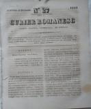 Curier romanesc , gazeta politica , comerciala si literara , nr. 27 din 1839 , prima gazeta romaneasca