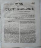 Curier romanesc , gazeta politica , comerciala si literara , nr. 29 din 1839 , prima gazeta romaneasca