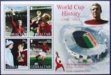 GIBRALTAR 2002 - WORLD CUP HISTORY  4 VALORI IN M/SH, NEOBLITERATA - GB 006